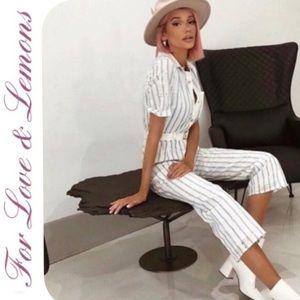 🔥SALE NWT Love & Lemons Hermosa Striped Jumpsuit